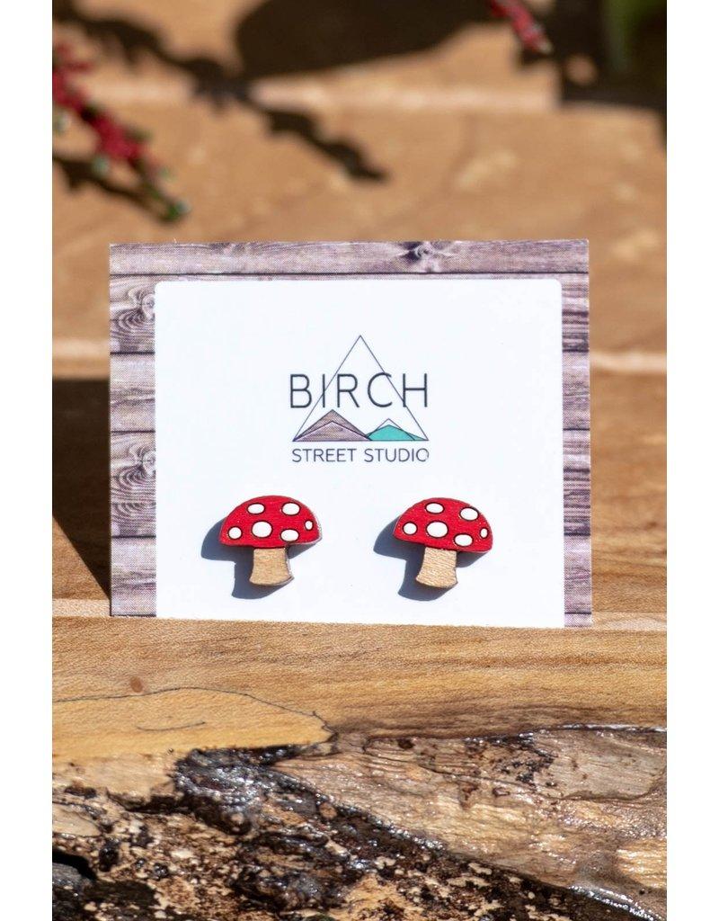 Birch Street Studio Mushroom Studs