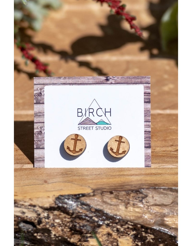 Birch Street Studio Anchor Maple Studs