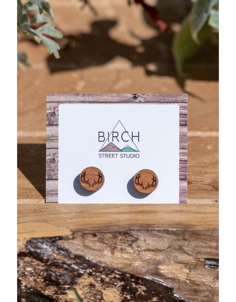 Birch Street Studio Antler Cherry Studs