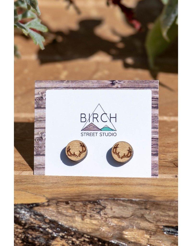 Birch Street Studio Antler Maple Studs