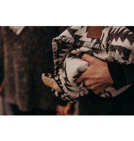 Modest Maverick Baby Blanket - CLASSIC BLACK+WHITE