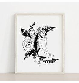 2humans1pooche Moon Women Print