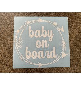 Cultured Coast Baby on Board Decal