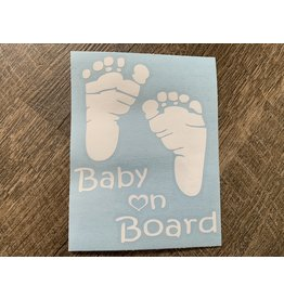 Cultured Coast Baby on Board Feet Decal