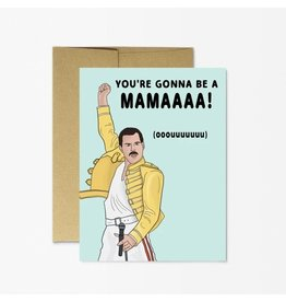 "Party Mountain Paper Co Freddie Mercury ""New Mama"" Card"