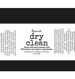 Kpure Dry Clean Rinse - Free Hand Cleanser - Grapefruit/Cinnamon/Clove