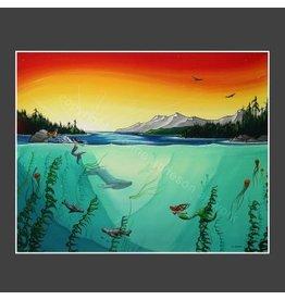 "Yvonne Acheson Art ""Fathoms Below"" Greeting Card"