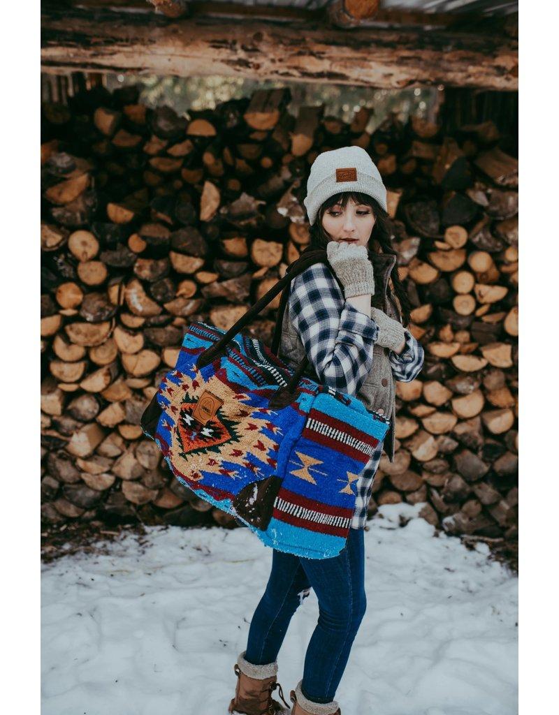Lace Brick Designs Royal Blue Weekender Bag