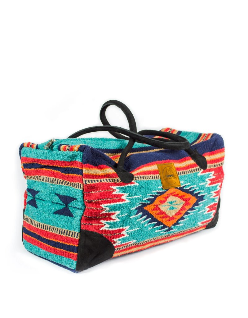 Lace Brick Designs Teal/Navy/Red Weekender Bag
