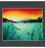"Yvonne Acheson Art ""Fathoms Below"" Small Framed Print"