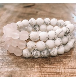 Orka Gems Rose Quartz/Howlite