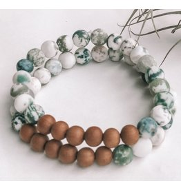 Orka Gems Tree Agate - Male Mala