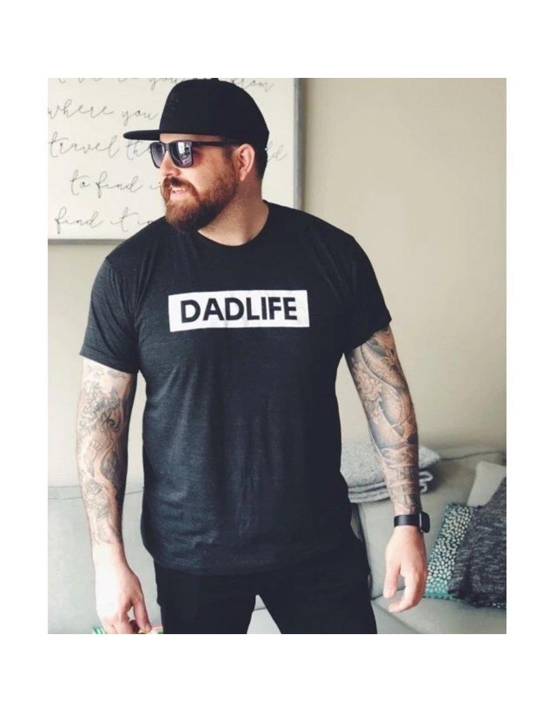 """DADLIFE"" Tee Triblend Dark Charcoal"