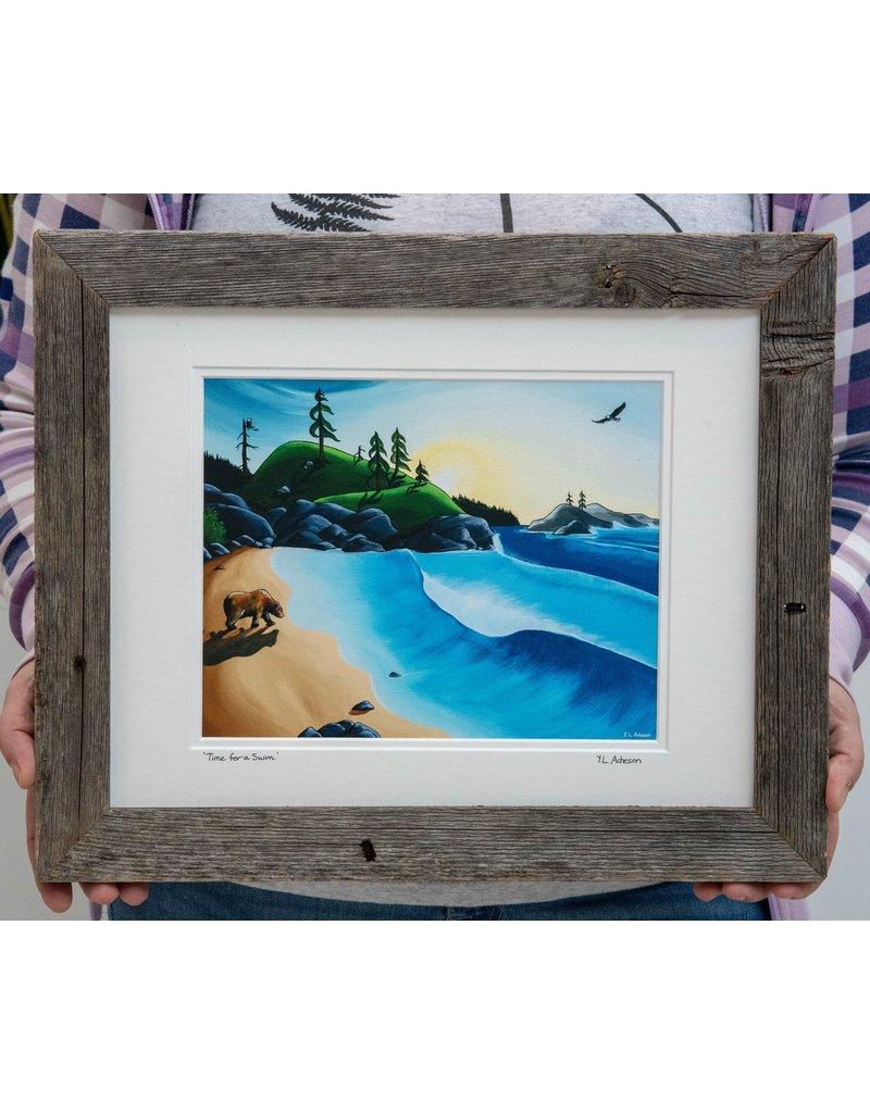 "Yvonne Acheson Art ""Time for a Swim"" Medium Framed"