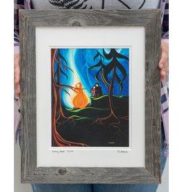 "Yvonne Acheson Art ""Cooking Wood"" Medium Framed"