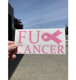 Cultured Coast FU Cancer Pink Decal