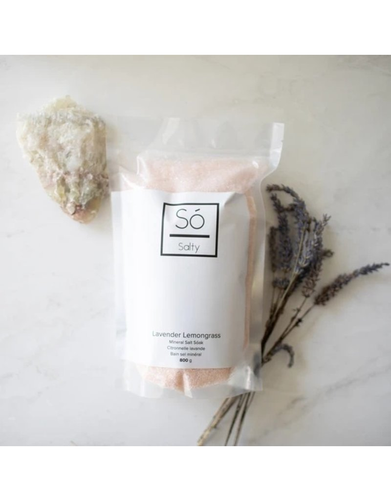 SO Luxury Lavender Lemongrass Salt Soak 800g