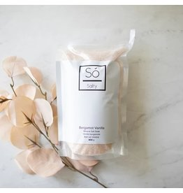 SO Luxury Bergamot Vanilla Salt Soak 800g
