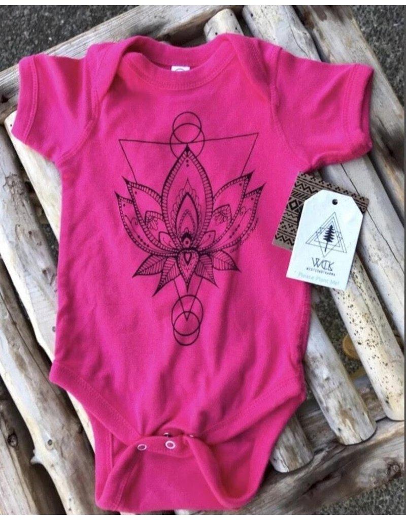 West Coast Karma Sacred Lotus Baby Onesie