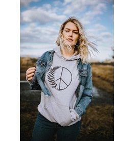 West Coast Karma Peace Fern Pullover Hooded Sweatshirt