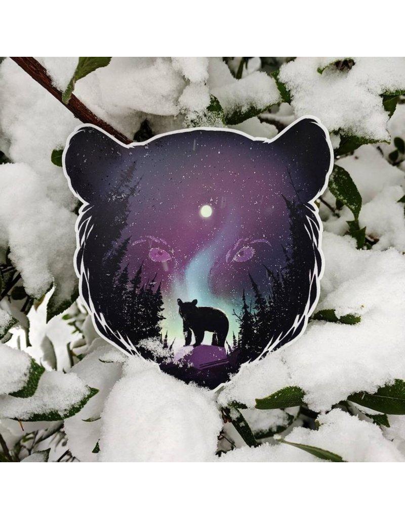 """Amanda Key Design Coastal Creatures: Aurora Bear Vinyl Sticker 3"""""""