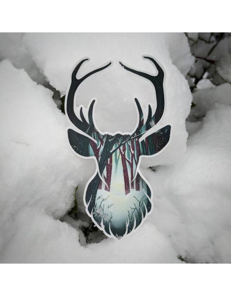 "Amanda Key Design Coastal Creatures: Forest Deer Vinyl Sticker 3"""