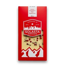 Solasta Lemon Lavender & Pink Peppercorn 28% White Chocolate