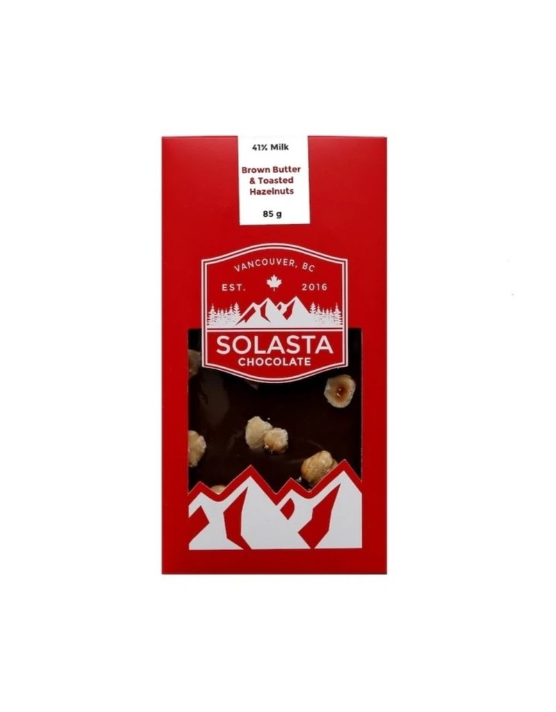 Solasta Brown Butter & Toasted Hazelnut 41% Milk Chocolate