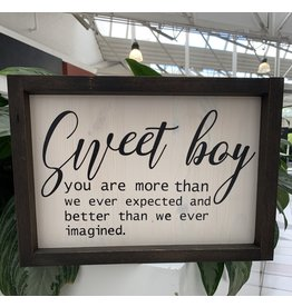 Cultured Coast Sweet Boy Sign