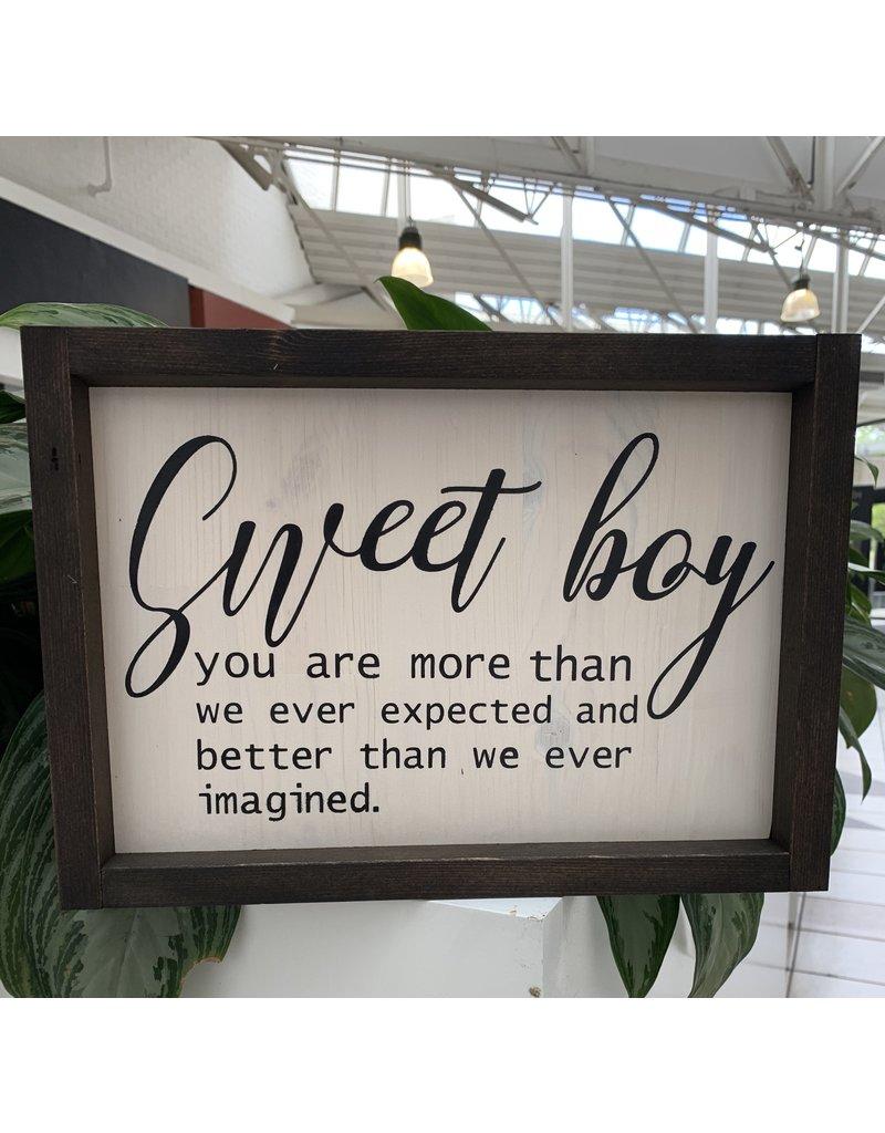 Cultured Coast Sweet Boy Sign