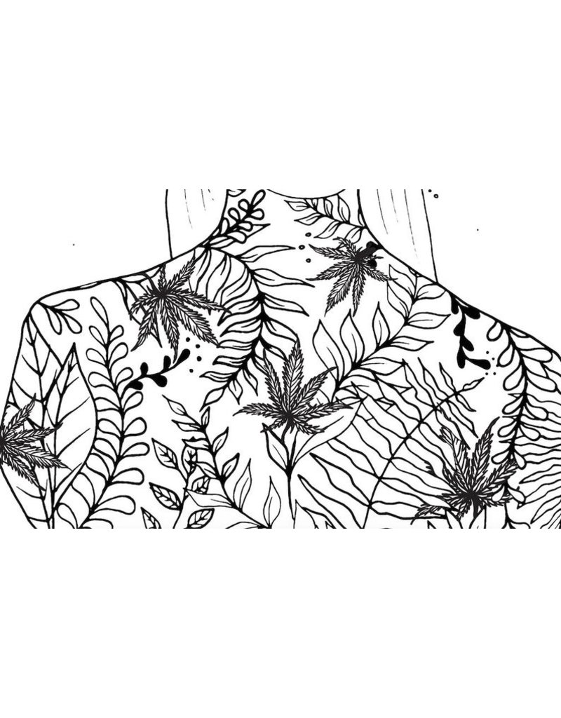 Melina Blossoming 4:20 Pot leaves Women Moon Phase Print
