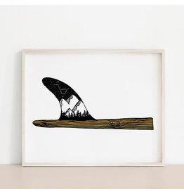 Melina Mountains & Stars Surfboard Fin Art Print