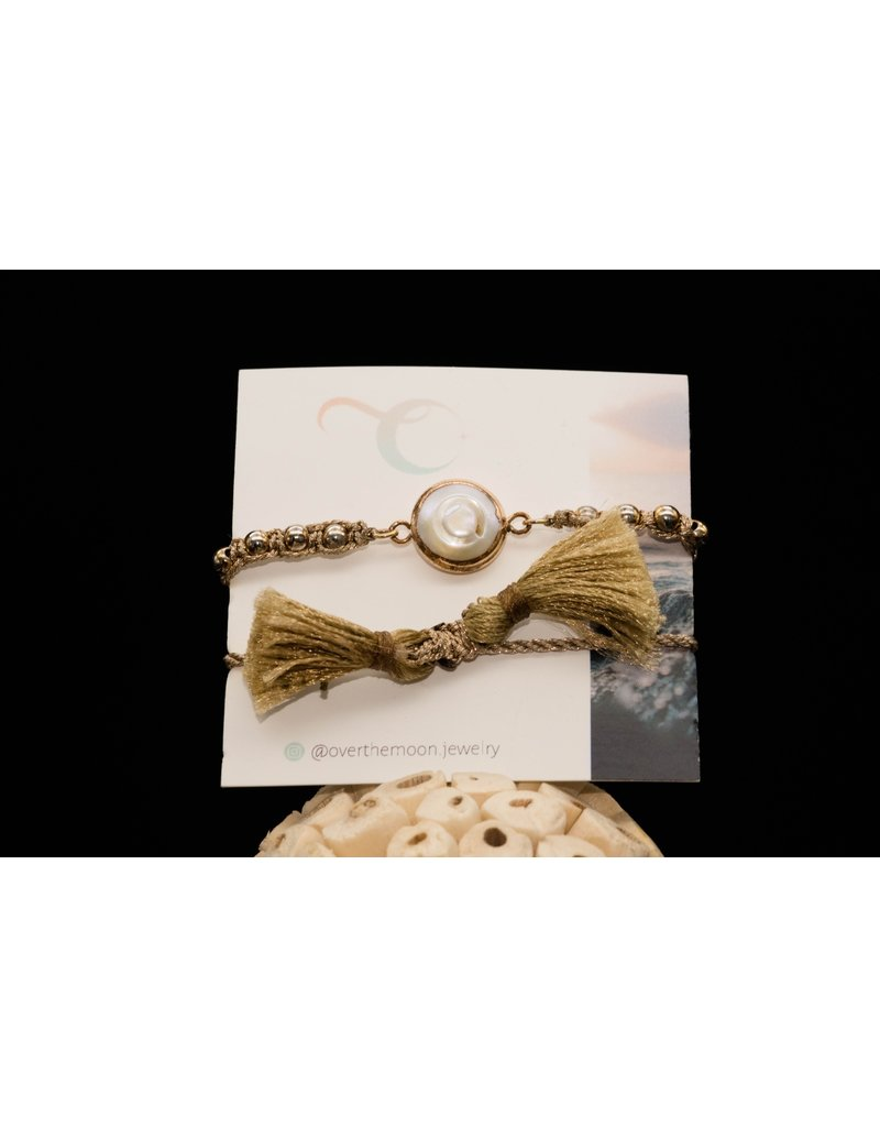 Over the Moon Jewelry Pearl Bracelet