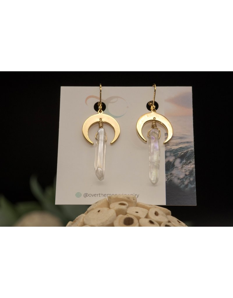Over the Moon Jewelry Crescent Moon Earrings