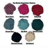 Mason Jar Lids The Market Bag- Ocean Blue