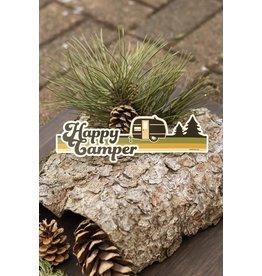 Amanda Weedmark Happy Camper Vinyl Sticker (Camper)