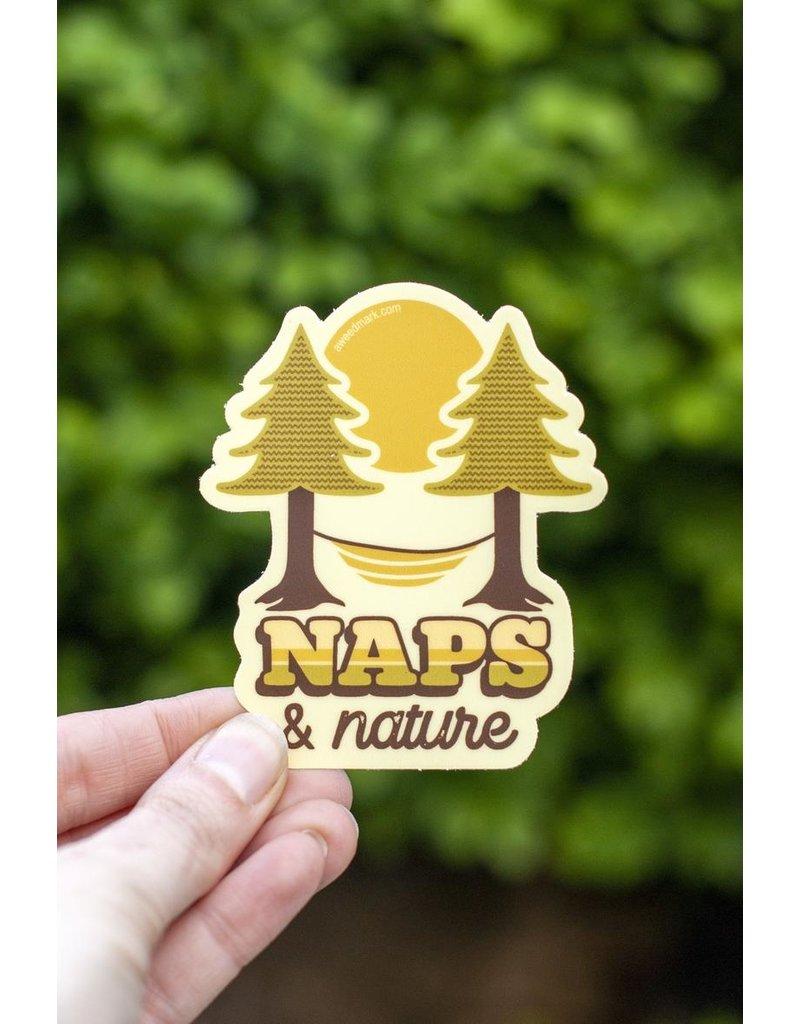 Amanda Weedmark Naps & Nature Vinyl Sticker