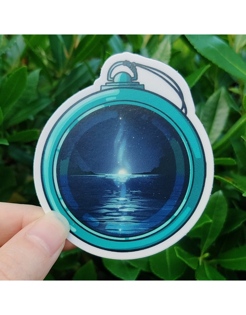 "Amanda Key Design North Star Compass Vinyl Sticker 3"""