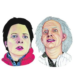 The Dolly Shop Doc and Marty Magnets