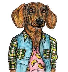 The Dolly Shop Weiner Dog Magnet