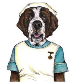 The Dolly Shop Saint Bernard Nurse Dog Magnet