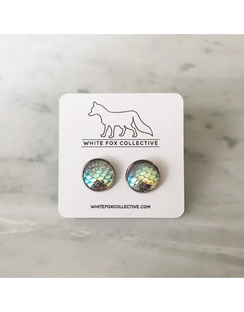 White Fox Collective Clear Mermaid Earrings