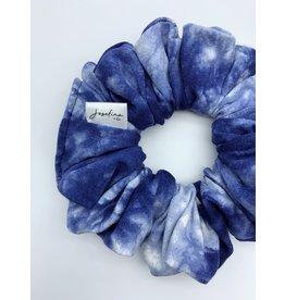 Cobalt Tie Dye Scrunchie