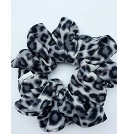 Josefina + Co Grey Leopard Scrunchie