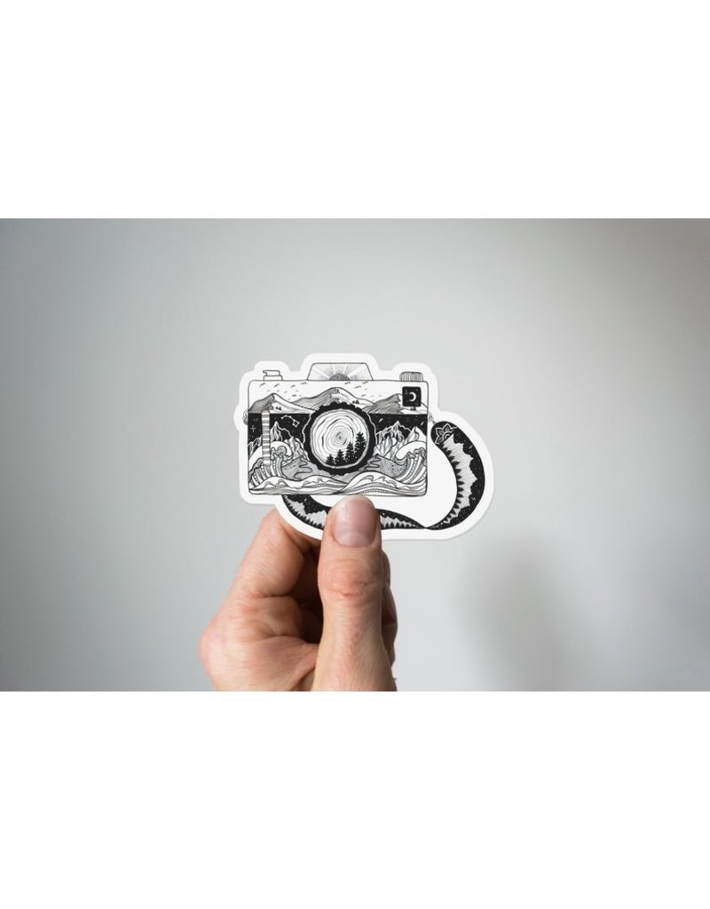 Mountain Mornings Camera Vinyl Sticker