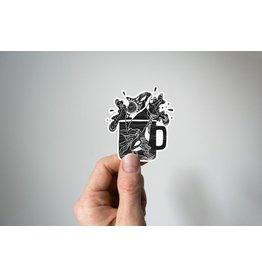 Mountain Mornings Orca Mug Vinyl Sticker