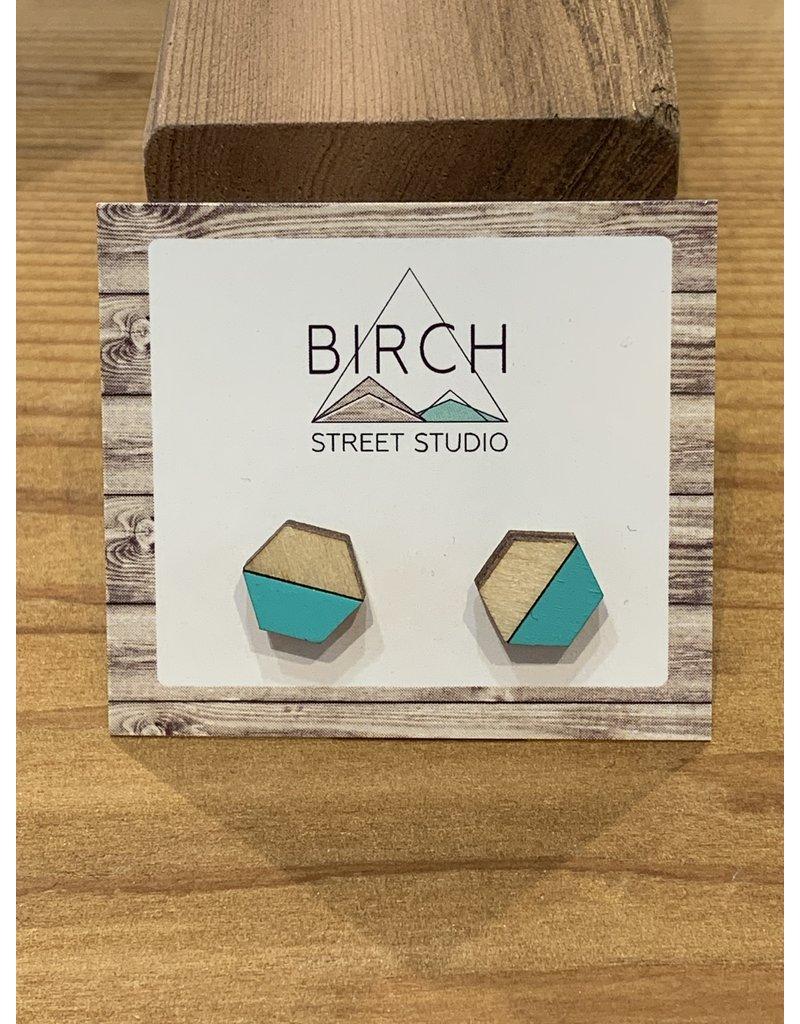 Birch Street Studio Teal Light Wood Earrings