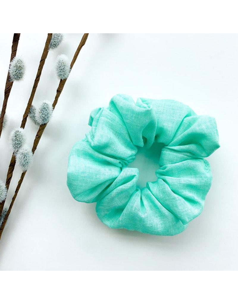 Lanna+Co Mint Linen Scrunchie