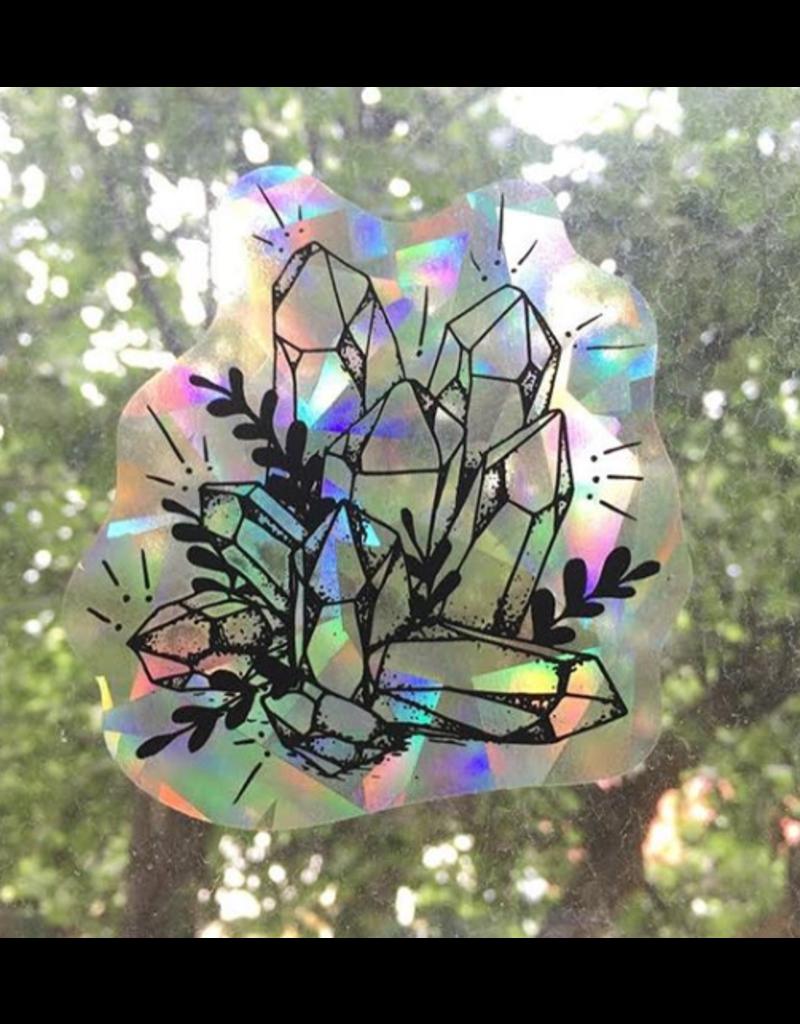 Melina Crystals Cluster Suncatcher Decal