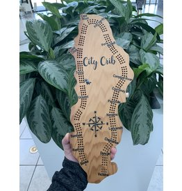 City Crib Vancouver Island Crib Board - Compass
